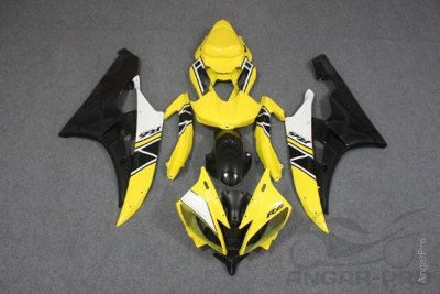 Комплект пластика для мотоцикла Yamaha YZF-R6 2006-2007 Limited 50th желтый